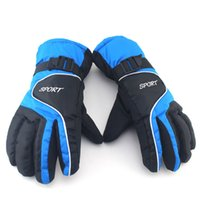 Wholesale 2 pair sport ski gloves women men Snowboard Gloves Snowmobile Motorcycle Riding Winter Gloves Windproof Waterproof Snow Gloves