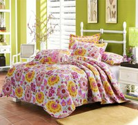 Wholesale Comforter Bed Cover Dekbedden En Dekens Floral Print Cotton Quilt Set Queen Bedspread Quilt