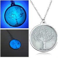 mens jewelry lot - The Tree Of Life Pendant Necklace Womens Mens Noctilucent Essential Oil Diffuser Aromatherapy Couple Necklaces Jewelry Gift Trial