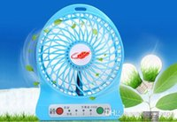 Wholesale latest f95b portable mini USB fan LED indoor outdoor kids table battery lights
