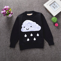 baby knit wear - Baby Girl Boy Sweater Pullovers Autumn Winter Black Long Sleeve Clouds Rain KIDS Knitted Wear Wool Jumper Children Top Clothes IN STOCK