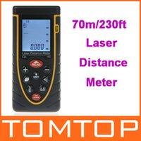 Wholesale 70m ft Handheld Laser Distance Meter Rangefinder Range Finder with Bubble Level PythagoreanTheorem