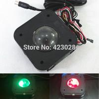arcade mouse - Arcade Game PS Connector cm Round LED Trackball mouse Illuminated trackball mouse