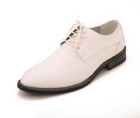 new style man dress shoes - New Style Groom Wedding Shoes Man Breathe freely Leather Shoes Business Dress Shoe Single shoes DY White