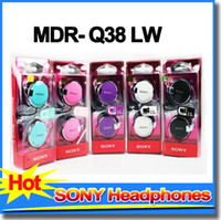 Wholesale SONY MDR Q38 LW headphones mm ear hook headset noise cancelling eaarphones with mic for samsung Xiaomi
