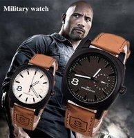Wholesale New Fashion Business Quartz watch Men sport Watches Military Watches Men Corium Leather Strap army wristwatch