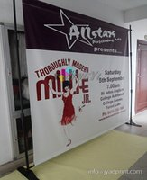 Wholesale 8 x Adjustable Step and Repeat Backdrop Stand with printing your artwork Custom printing back drop display
