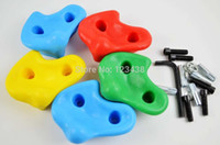Wholesale Climbing Rock Wall Kit Stones Hold Grips Playground Playset Hardware Screws Included
