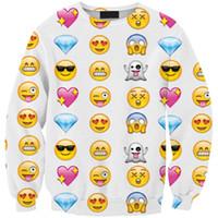 Emojis roupas Preços-Expressão Mulheres Moda Hoodies Emoji Roupa Rede Impresso moleton dos desenhos animados Outfits