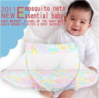 Wholesale New Design Baby Crib With Netting Babies Bed Mosquito Net Cushion Portable Folding Crib Baby Bed Mosquito Net Cama Infantil