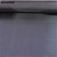 Wholesale 3K Real Carbon Fiber Cloth High Strength g m2 Plain Weave Carbon Fiber Yarn Hard Wearing mm Thick Black
