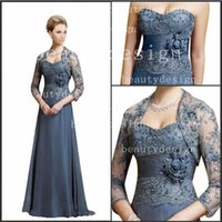 Model Pictures mother of bride chiffon dress - 2015 Graceful A Line Chiffon Mother of the Bride Dresses with short Bolero Jacket Sweetheart Lace Appliques Prom Evening Gowns for Ladies