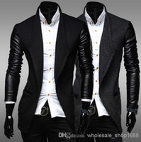 leather jackets for men - man jacket men coat casual jacket baseball jacket jackets for men men sportswear leather sleeve knitting