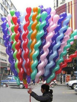 Wholesale Screwed Latex Twisting Spiral Balloons Conventional Festival Balloons Wedding Party Holiday Decoration