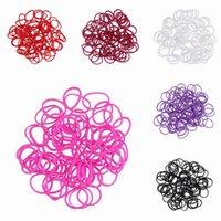 Link, Chain Bohemian Unisex 10 Bags 6000PCS Solid Color Loom Rubber Band Bracelet Elastic Hand Chain Bracelet Craft DIY Making GNB*10