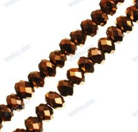 Wholesale DIY Jewelry Making Strand of Crystal Glass Beads Faceted Abacus Dark Khaki x4 mm About Q340