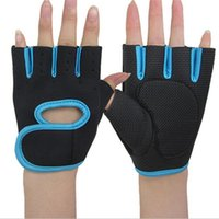 adult cycle training - Half Finger Nylon Rubber Sports Gloves Adult Gym Cycling Exercise Fitness Training Gloves