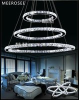 Wholesale Modern LED Crystal Ring Chandelier Pendant Light Energy Saving Crystal Light Cristal Pendant Lamp DIY Style MD8825