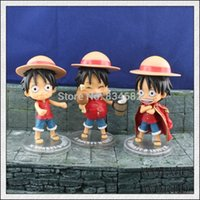 Wholesale J G Chen Anime One Piece set Monkey D Luffy PVC Action Figure Collectible Toy CM