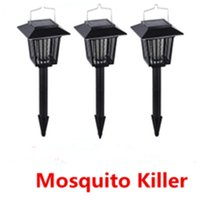 mosquito killer outdoor - Solar Powered Lamps Outdoor Mosquitoes Killer Light Bug Mosquito Insect Killer Lamps Bug Zapper Light Outside Garden Yard Path Walkway