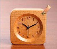 antique bamboo table - 2016 new desk and table clocks electronic alarm clocks square needle clock antique style wooden material