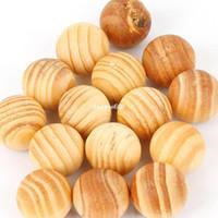 Wholesale 100PCS home fragrance pure natural sandalwood fragrant moth balls wood fresh air ball flavor for wardrobe closet Car