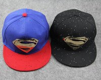 al caps - 2015 Fashion Unisex Superman Baseball Cap Hat Hip hop Cotton Peaked Hat Casual outdoor Travel Snapback Sunhat AL M18
