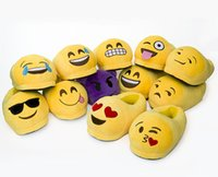 Wholesale New arrival Winter Emoji Smiley cotton Slippers Emotion Yellow QQ Expression cute cartoon Slipper style