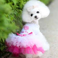 Wholesale 2 petstyle gradient multi colored puff skirt pet dog summer clothes teddy skirt vip dog s clothing