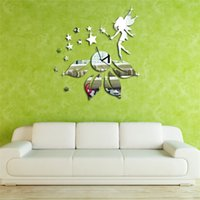 artistic lighting design - Easy to install Removable Acrylic D Clock Star Fairy Design Mirror Effect Wall Sticker Artistic Modern Room Decor