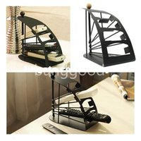 Wholesale Remote Control Black Household Solid Metal Organiser Stand Holder Caddy Storage Couch DVD