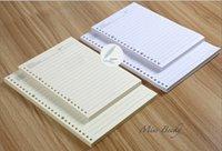 Wholesale Loose leaf filler Stripe A5 holes B5 holes Notebook Planner Spiral Inside Paper
