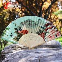 Wholesale Female Japanese folding fan silk printing technology fan dance antiquity daily mini fan custom