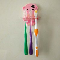 wall mounted holder - New Design Creative Cartoon Shelves Toothbrush Storage Holders Wall Mounted Type Toothbrushes Support