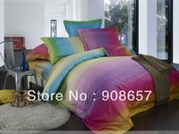 bedroom sets discount - blue orchid green omber print cotton bed linen discount home textile full queen quilt duvet covers set pc for comforter bedroom