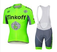 Wholesale 2016 Tour De France Cycling Jerseys Tinkoff Saxo Bank Bike Wear Short sleeves tops white BIb Shorts Size XS XL fluo