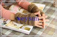 Wholesale DHL Freeshipping pairs Fashion Unisex Men Women Knitted Fingerless Winter Gloves