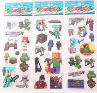 Wholesale Minecraft Frozen Despicable me Sticker D Cartoon party Decorative book Stickers Elsa Anna minions paper game christmas Children gift toys