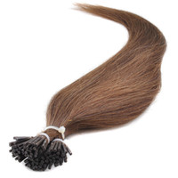 cold fusion hair extensions - Natural Straight Cold Fusion Pre bonded Stick Tip Hair Extensions G Shoe lace Flash Point Keratin I Tip Human Hair Extensions