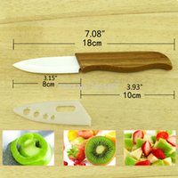 bamboo disposable cutlery - White Blade Ceramic Knife Holder Bamboo Handle Cutlery For Gift Fruits