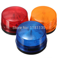 Wholesale LED V Security Alarm Strobe Signal Warning Blue Red Orange Flashing Light