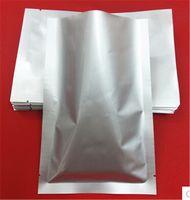 aluminum foil storage - 24 cm Pure Aluminum Foil Bag Open Top Silver Packing Heat Seal Vacuum Food Storage Packaging For Snack Sugar Tea up