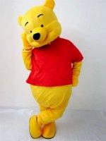 Wholesale EMS FREE Bear Cartoon walking dolls The Pooh Cartoon Clothing Mascot Costume Winnie Animal Mascot Costume
