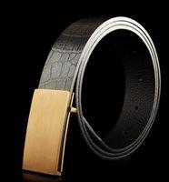 beaded chain belt - 2015 new hip brand buckle g designer belts for men women genuine leather gold cinto belt Men s