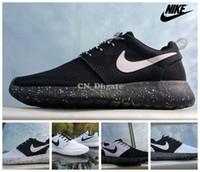 Wholesale Nike Roshe One ID Black White Women Men Running Shoes Cheap Roshes Run Sport Trainers Size