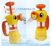bath toy water pump - 2016 new children water toys Pumping the duck baby bath toys EMS fast shipping