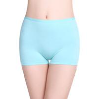Wholesale 2 Pc Girls boxer brief Panties Solid Modal Quality TRUNK Undies comfortable Women antibacterial Underwear Lingerie Knicker boy shorts