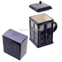 Wholesale Pieces Doctor Who Tardis Mug Ceramic Mug With Removable Lid