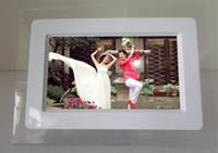 achat en gros de cadre photo numérique calendrier-7 pouces HD LCD Écran Ordinateur de bureau Cadre photo numérique Calendrier Cadre photo numérique avec calendrier Support Tf Sd Flash Drives