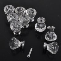 Wholesale fashion high quality Glass Crystal Sparkle Cabinet Cupboard Closet Drawer Pulls Knobs Handle UK